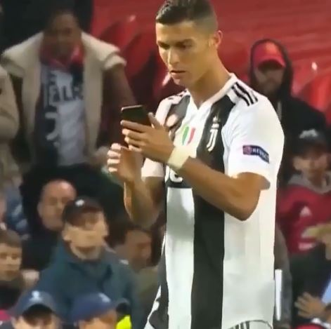 Ronaldo Takes Selfie With Fan Who Stormed The Pitch During Juventus Game