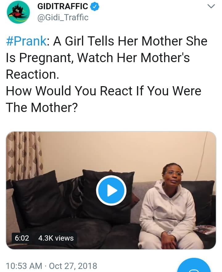 Lady Tells Her Mother She Is Pregnant, Did Abortion. Watch Her Mum's Reaction