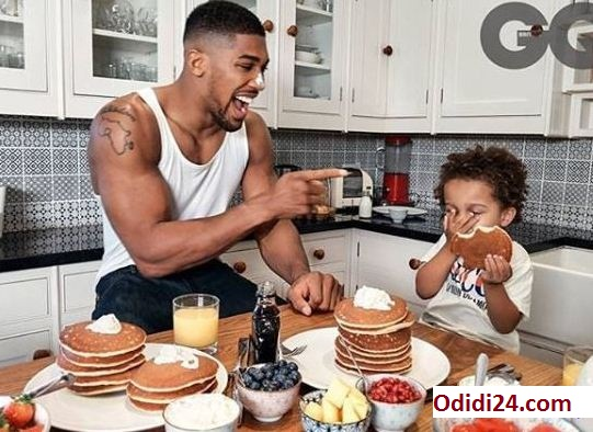 Anthony Joshua And His Son Are Cute As They Cover GQ Magazine
