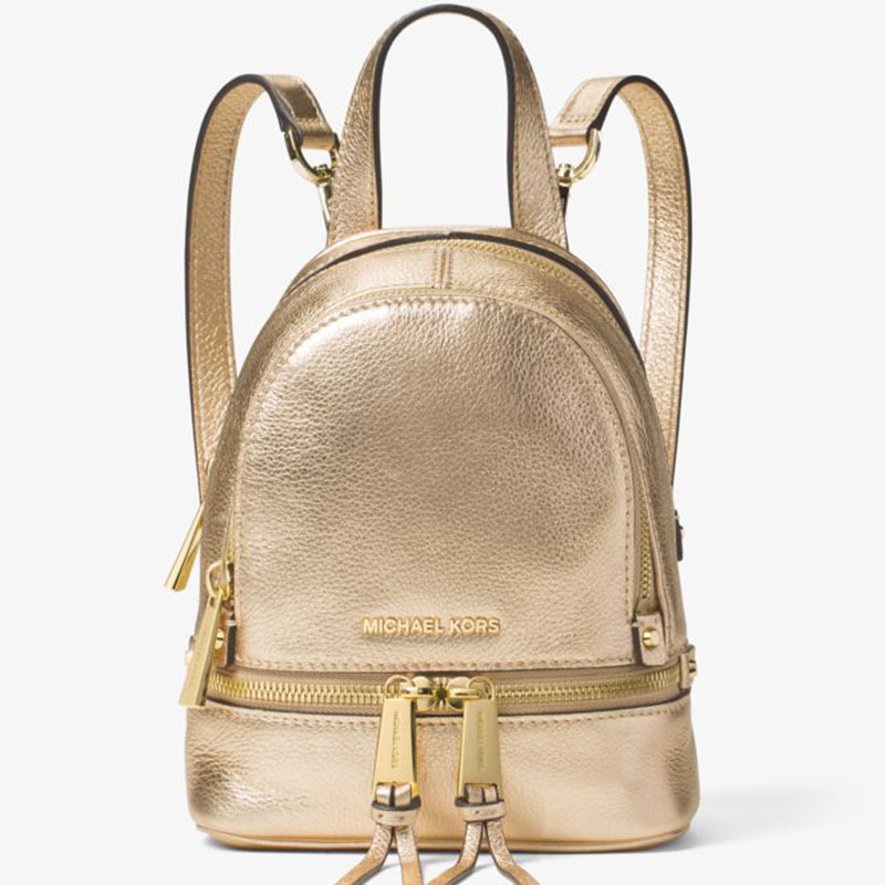 9d1704d1e421 More styles please click : http://www.mkoutletfire.com/michael-michael-kors- rhea-extra-small-leather-backpack-gold.html