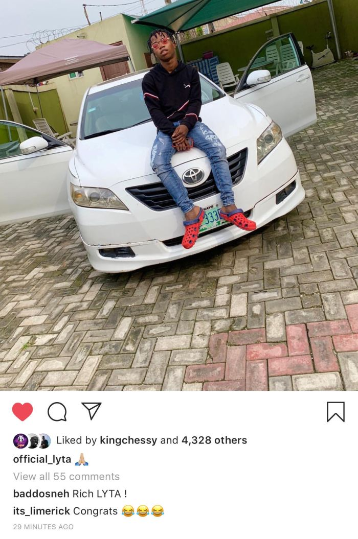 YBNL Signee Lyta Buys A Car At The Age Of 18 (Photos) - Hitsongz #1