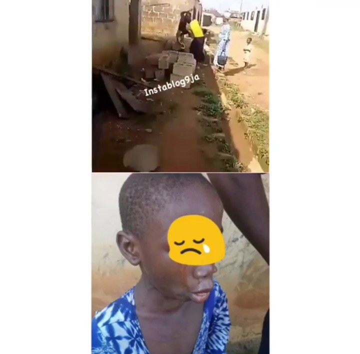Image result for Deadbeat man publicly beats his wife and child in Ibadan