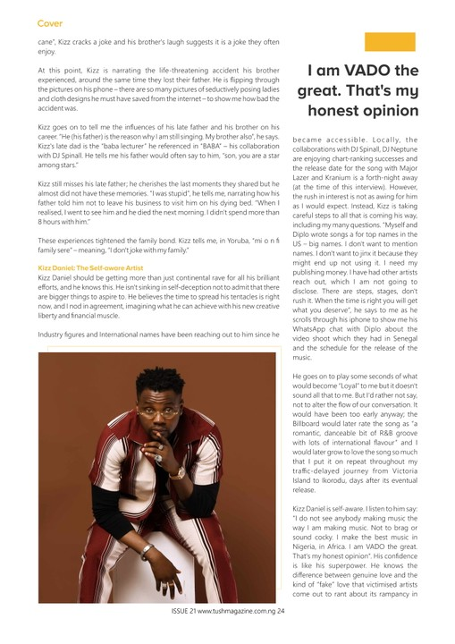 Kizz Daniel Rocks The Cover Page Of TushMagazine's 21st Issue (photos) 3