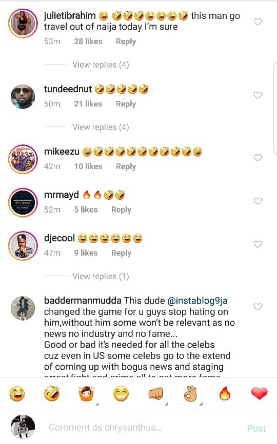 Instablog9ja Owner On Fire As Bovi Oyemykke And Other Celebrities Unleashes Terror On Him Daily Advent Nigeria Explore @instablog9ja6 twitter profile and download videos and photos fashion,lifestyle,entertainment,24/7 news.for enquires contact :@instablog9ja@gmail.com | twaku. instablog9ja owner on fire as bovi