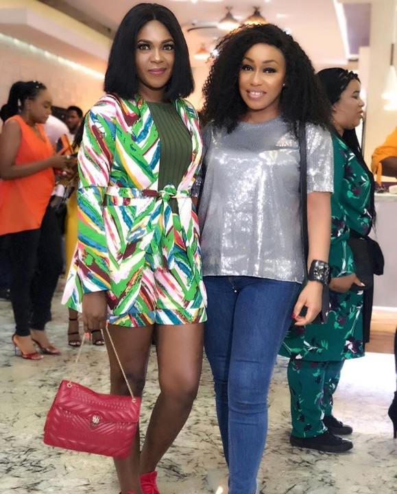 Actresses Omoni Oboli And Rita Dominic Pictured Together In Lovely Outfits