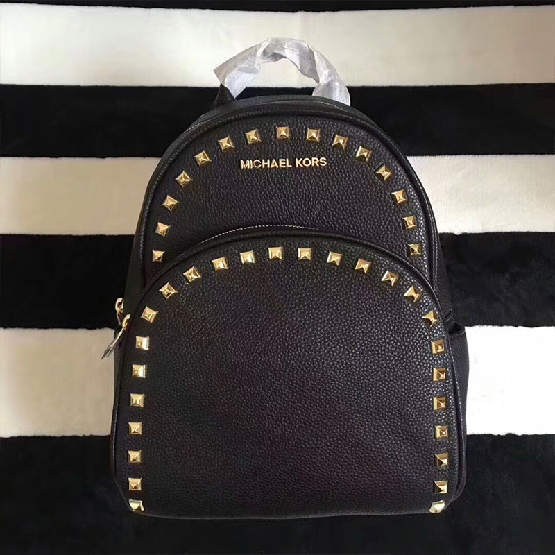 b067f4ee7400 More styles please click   http   www.mkoutletfire.com michael-michael-kors- abbey-studded-leather-backpack-black.html