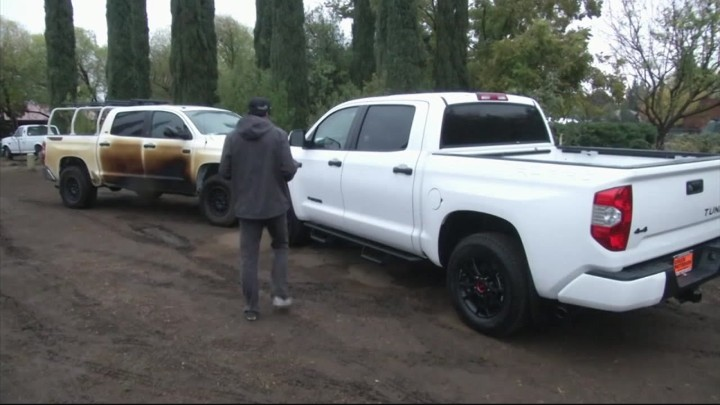 California Fire: Toyota Honors Its Word, Delivers New 2018 Tundra To Hero