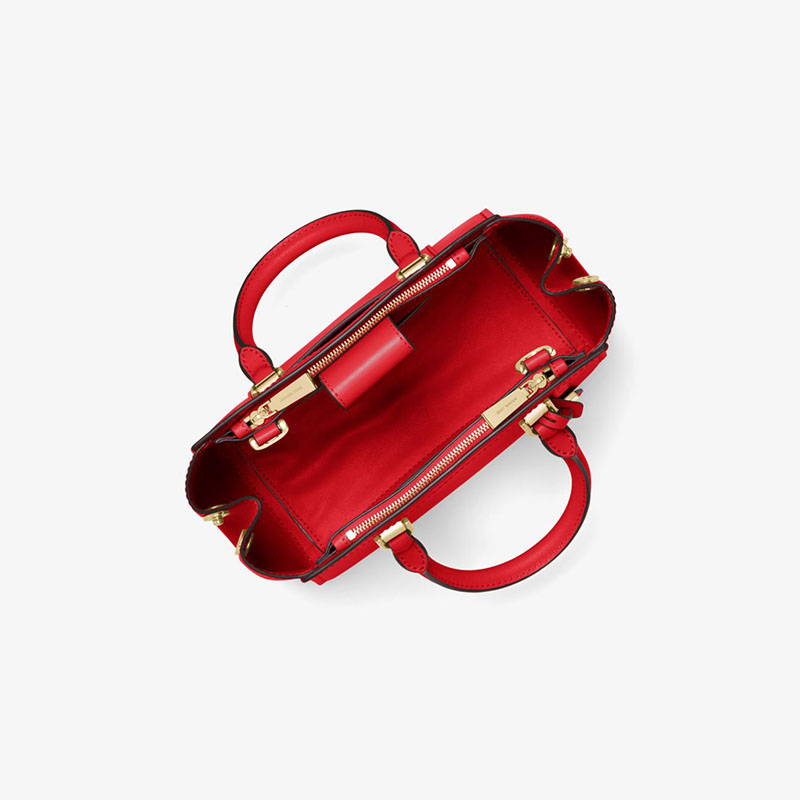a19729c09965 More styles please click : http://www.mkoutletfire.com/michael-michael-kors- benning-medium-leather-satchel-red.html