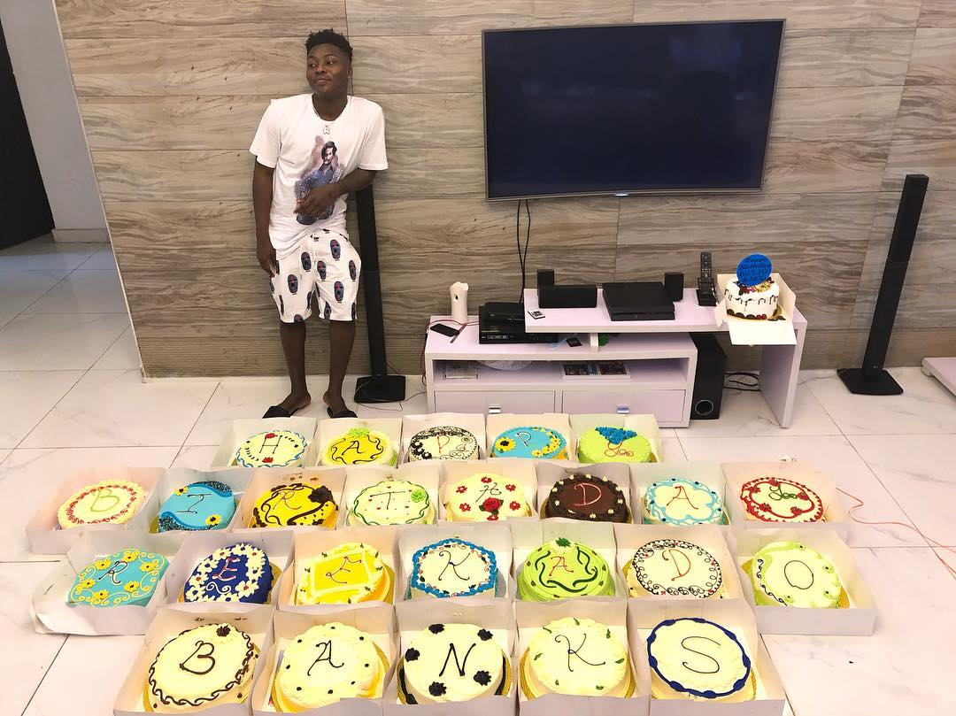 Reekado Banks Brother Gifted Him 25 Customised Cakes For His Birthday  (PHOTO)