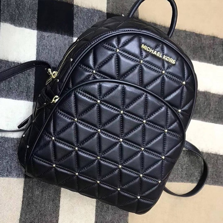 916689db1dc0 More styles please click : http://www.mkoutletfire.com/michael-michael-kors -abbey-quilted-leather-backpack-black.html