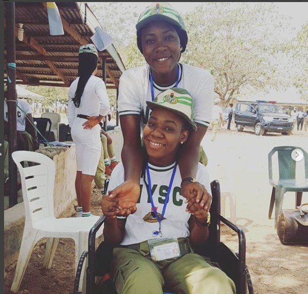 A Very Touching Story Of How A Fellow Corper Turned A Mother To A Physically Challenged Pretty Corper