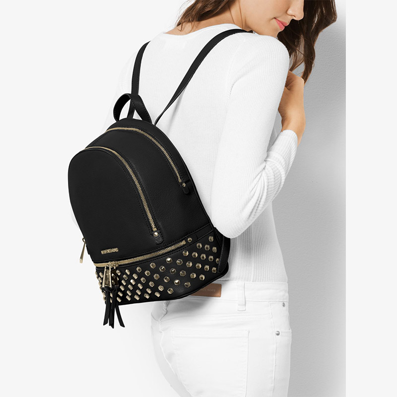 0a9203389d36 reduced more styles please click mkoutletfire michael michael kors rhea  large studded leather backpack black 80
