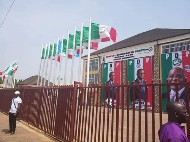 8297202_fbimg1544457996762_jpegf233457444d4d74bc4754bd1f7ab712a Pictures Of Okowa/Atiku 2019 Campaign Headquarters In Asaba, Delta State