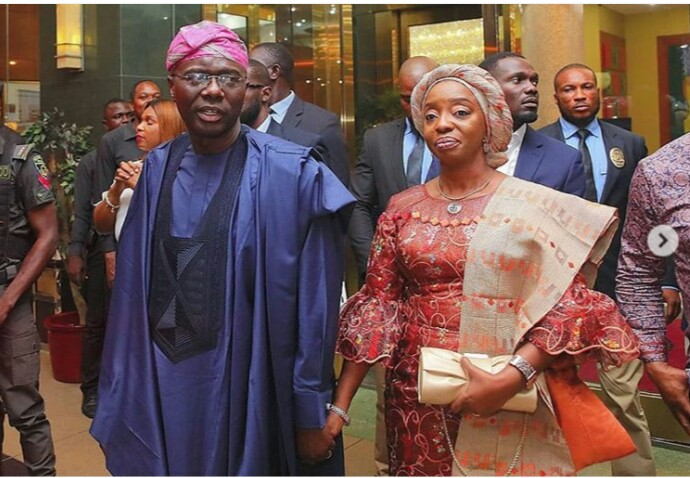 Image result for sanwo olu;s wife