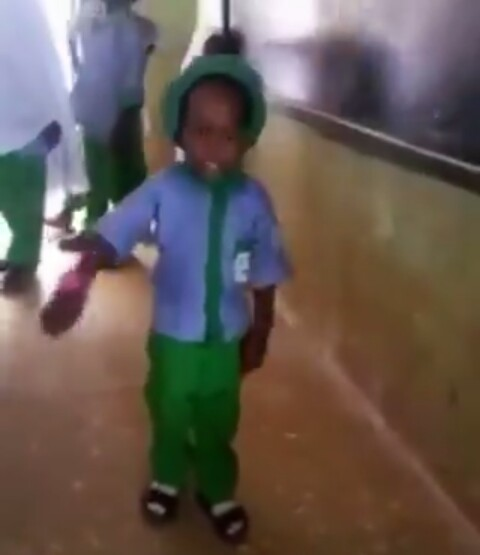 Viral News Update: Nigerian Police Presents Bicycle To A 3-Yr-old Boy For His