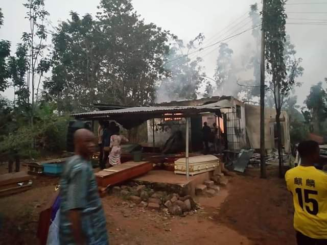 fire engulfed a flat at house number w.297fire engulfed a flat at house number w.297,enugwu ukwu general hospital,mampong district hospital,hospital,breaking over 50 corpses burnt to ashes
