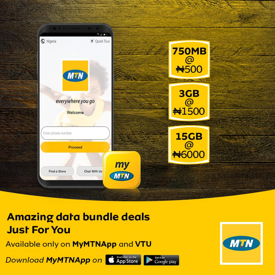 Mtn Introduce New Data Plan Get 750mb For N500, 3gb For N1500 And