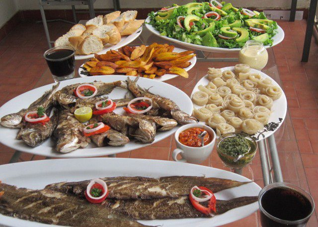 Image result for images of roasted fish in Limbe