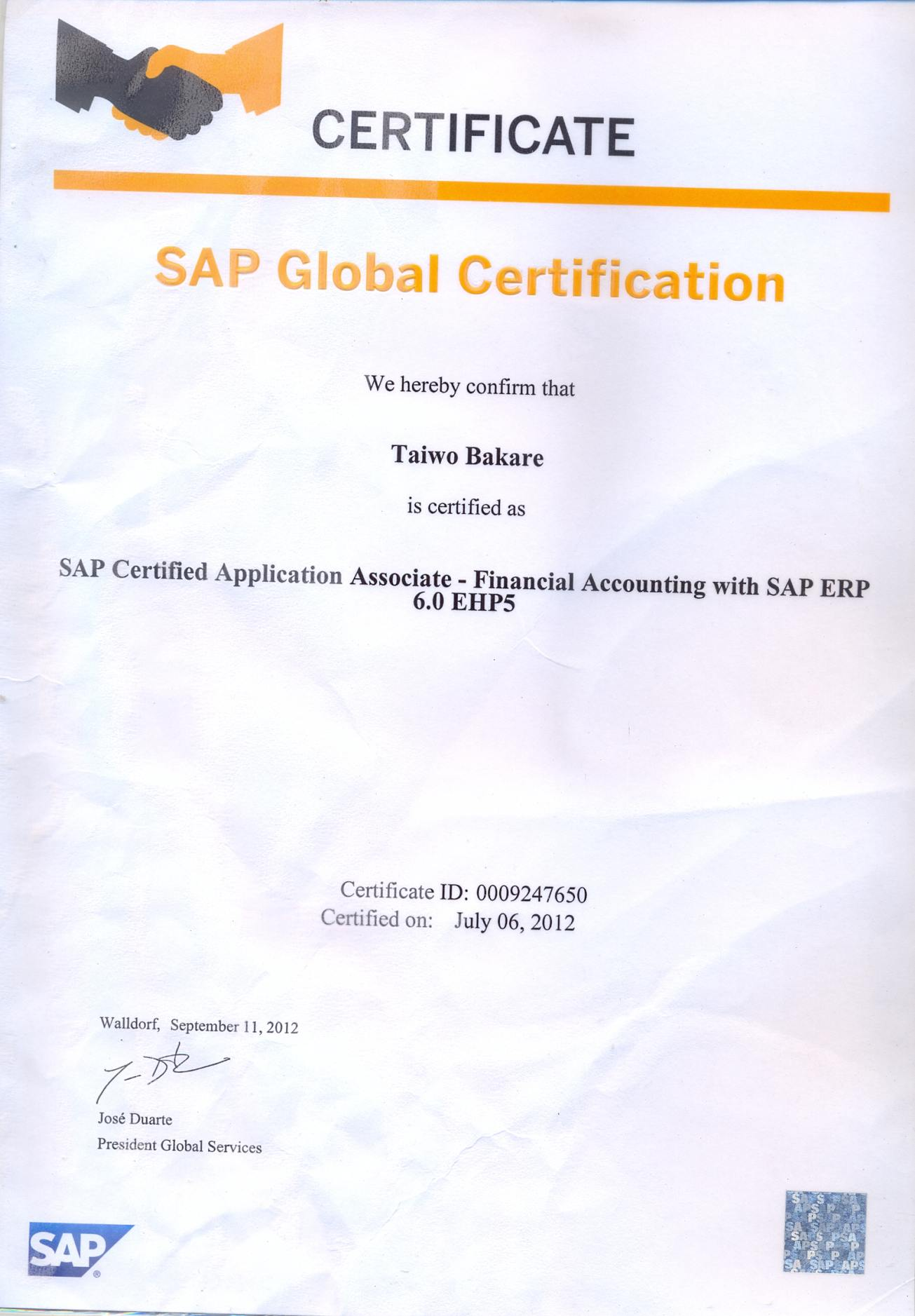 what is sap mm certification