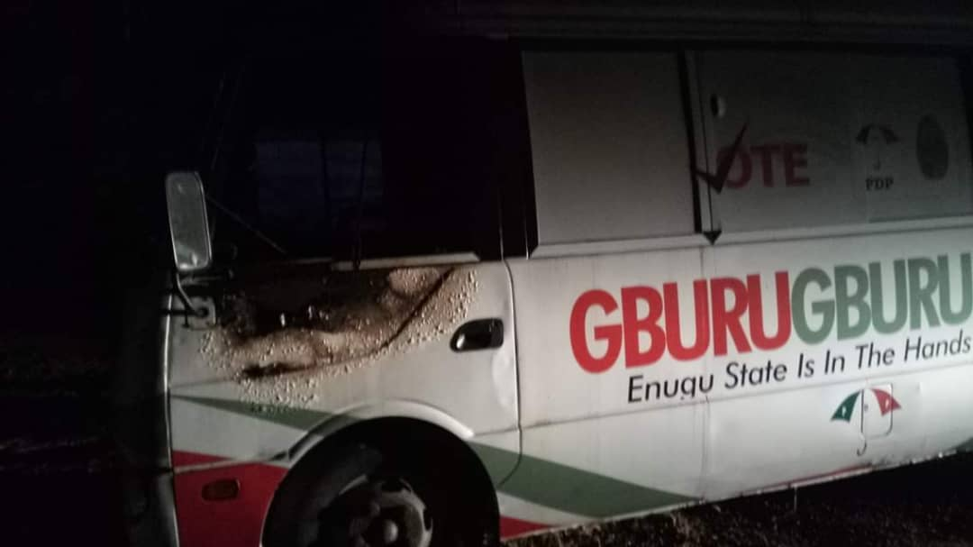 Image result for Enugu PDP buses burnt