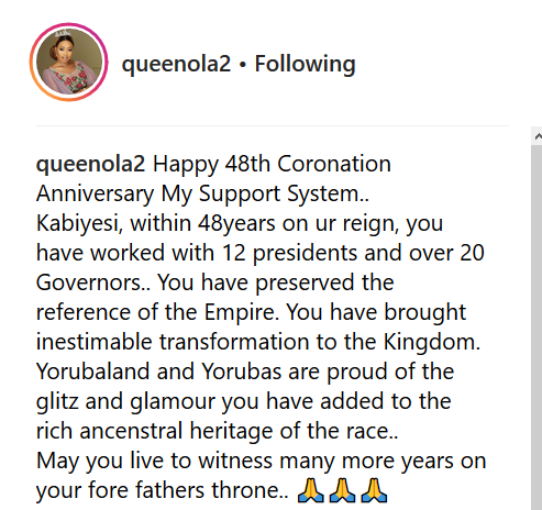 Alaafin Of Oyo's Youngest Wife Celebrates Him On His 48th Coronation Anniversary