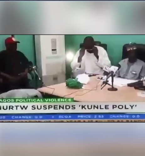 Image result for NURTW Suspends Kunle Poly After Attack On MC Oluomo At APC Rally In Lagos