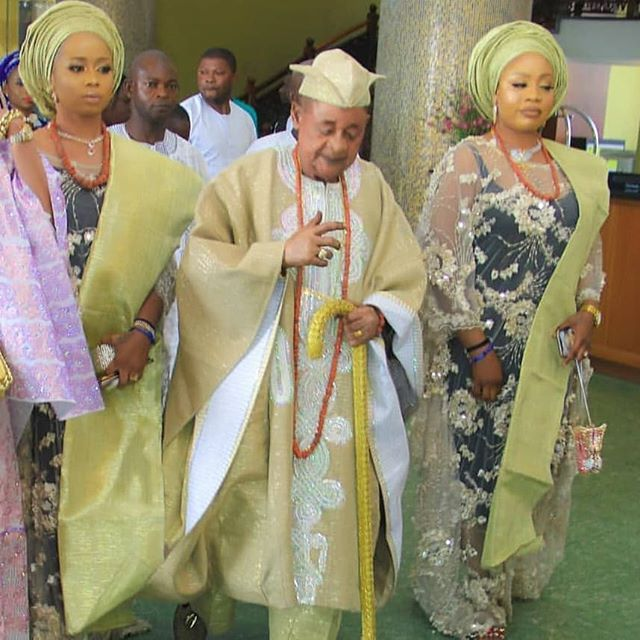 Alaafin Of Oyo, Lamidi Adeyemi & His Wives Step Out In Style