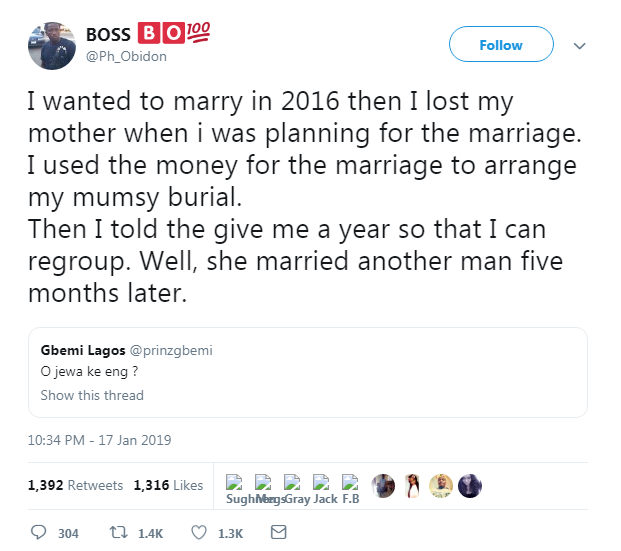 My Wife Left Me After I Used Our Marriage Money For My Mothers Burial