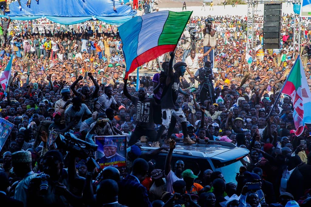 "Image result for Governor Simon Bako Lalong of Plateau State has described the crowd that greeted President Muhammadu Buhari's visit to Jos at the weekend as ""the mother of all rallies."""