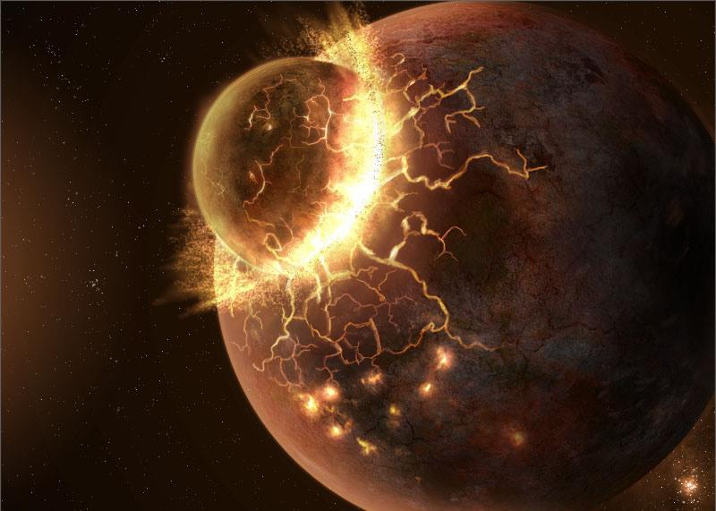 The Moon Was Created By A Massive Collision Of Earth And A ...
