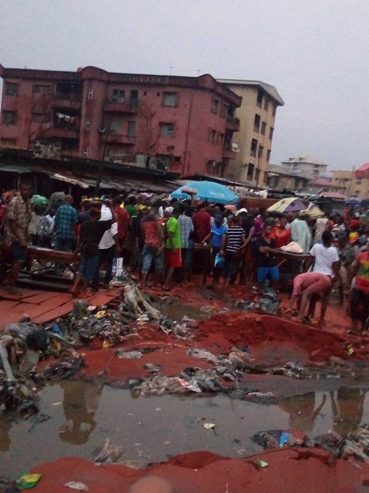 Lady Killed By Heavy Rainfall In Onitsha, Anambra State