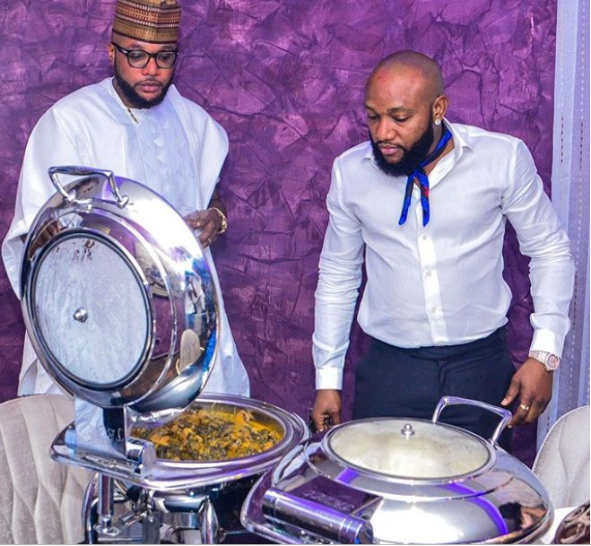 E-money And Kcee Staring At A Big Pot Of Soup