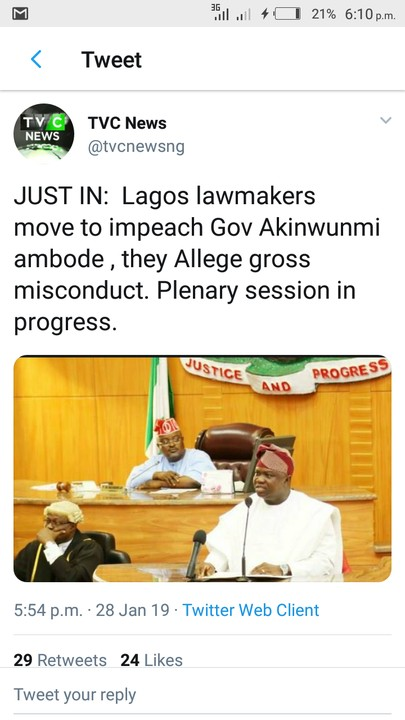 Image result for Lagos lawmakers move to impeach Gov Akinwunmi ambode , they Allege gross misconduct. Plenary session in progress.