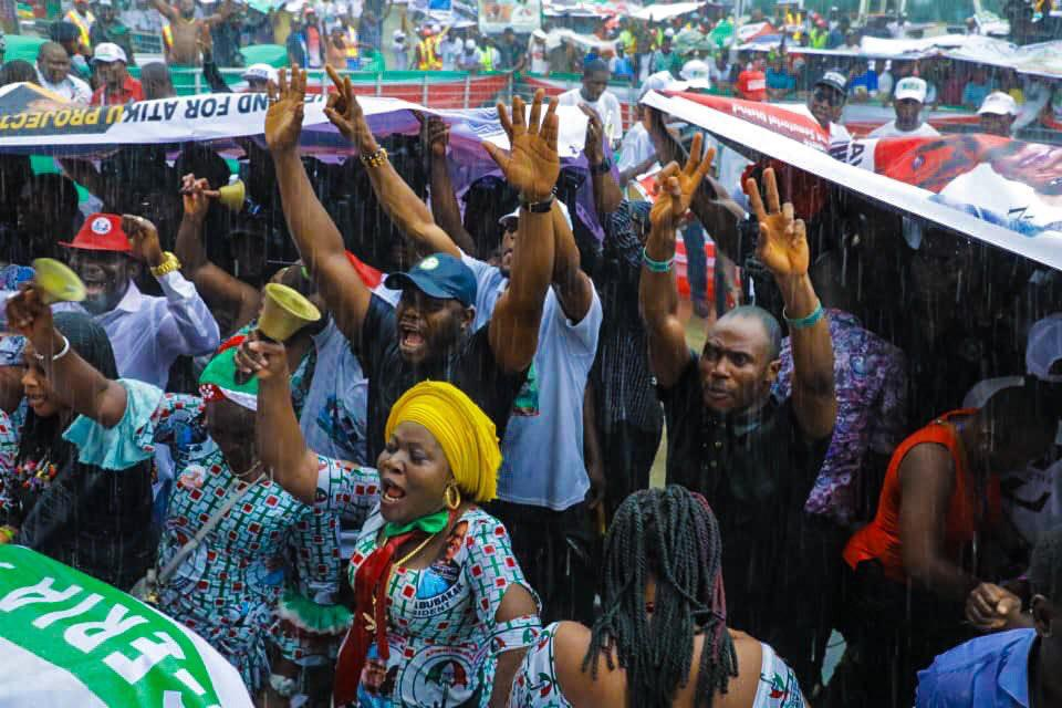 Jonathan Headlines Atiku's Campaign In Bayelsa As South-south Drums Support