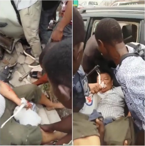 Chinese Man Involved In Accident In Ghana Refuses Helpers To Hold His Money Bag