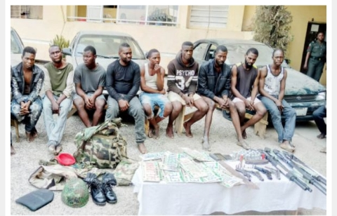 Dismissed Soldier, 16 Others Paraded For Robbery, Rape (photo)