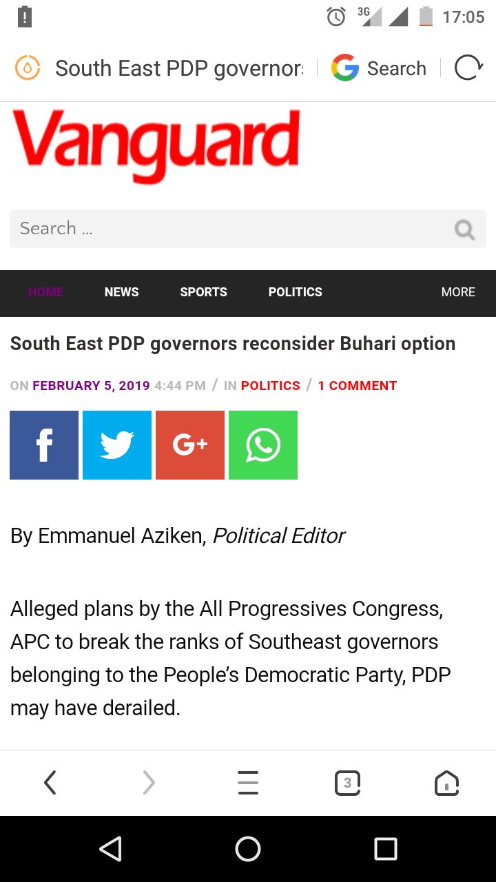 South East PDP Governors Re-consider The Buhari Option
