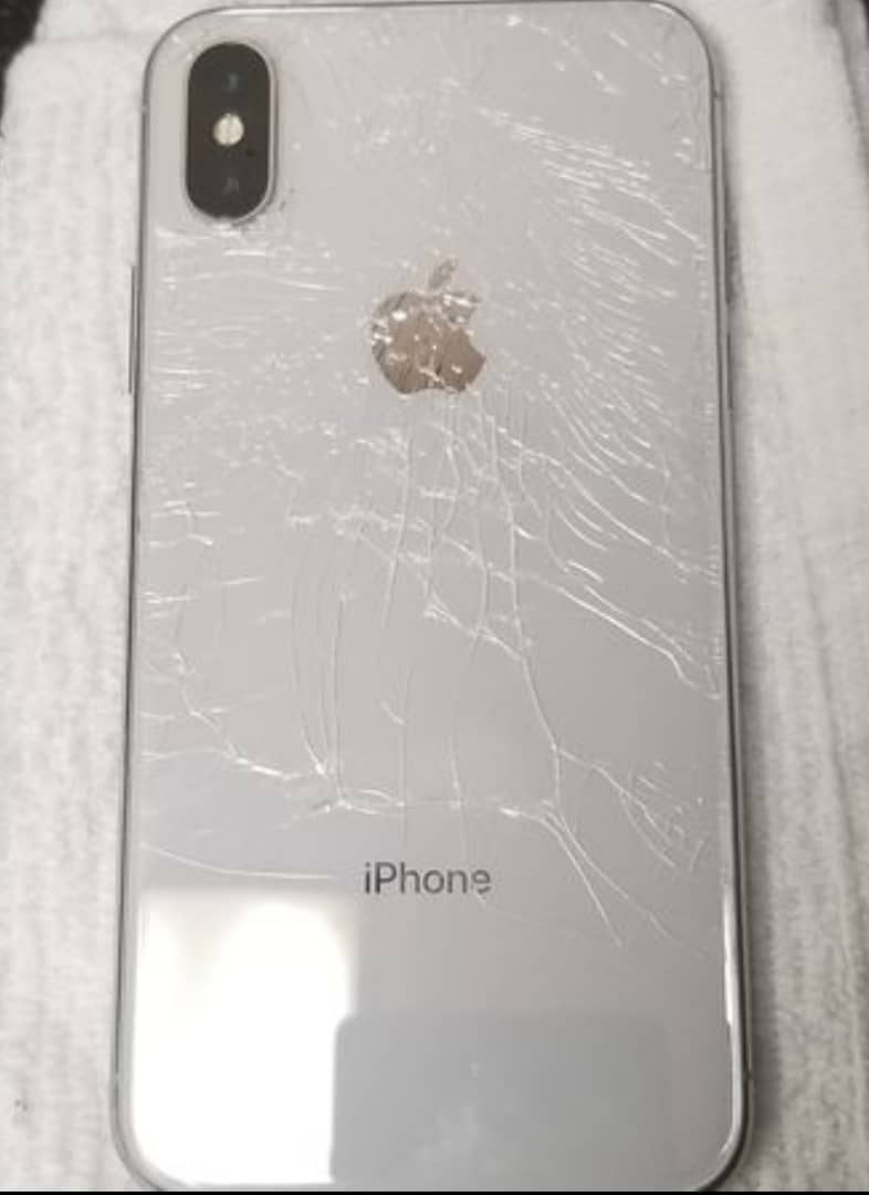 big sale 84995 165a9 Factory Unlocked Cracked Back White Iphone X, 64gb For Sale @200k ...