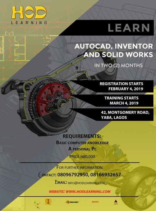 Training For 3D Animation, CAD, Solidworks And Autodesk
