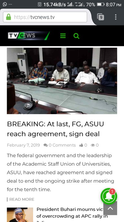 The federal government and the striking University teachers have finally signed an agreement