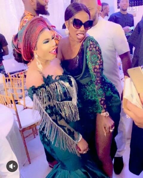 Image result for pictures of Bobrisky at Lagos wedding during the weekend