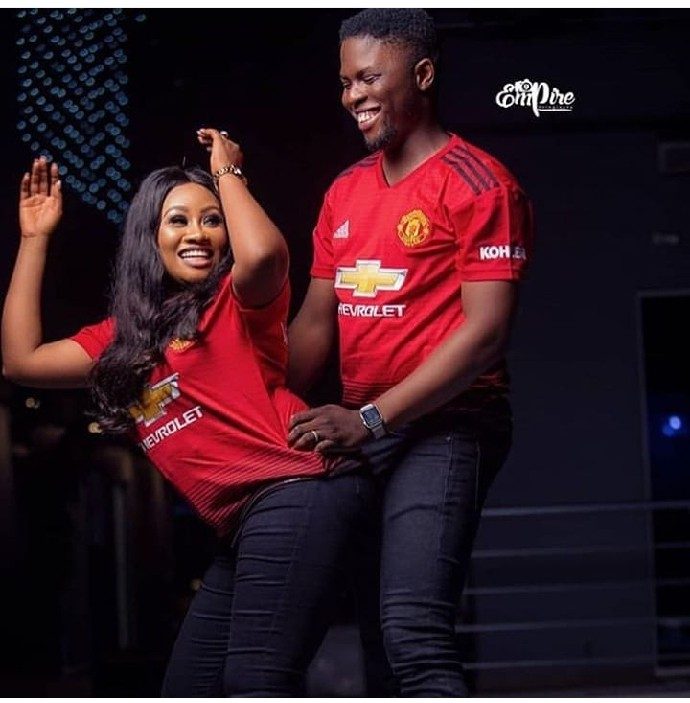 Manchester United Couple Pose in Lovely Doggy Styled Photoshoot