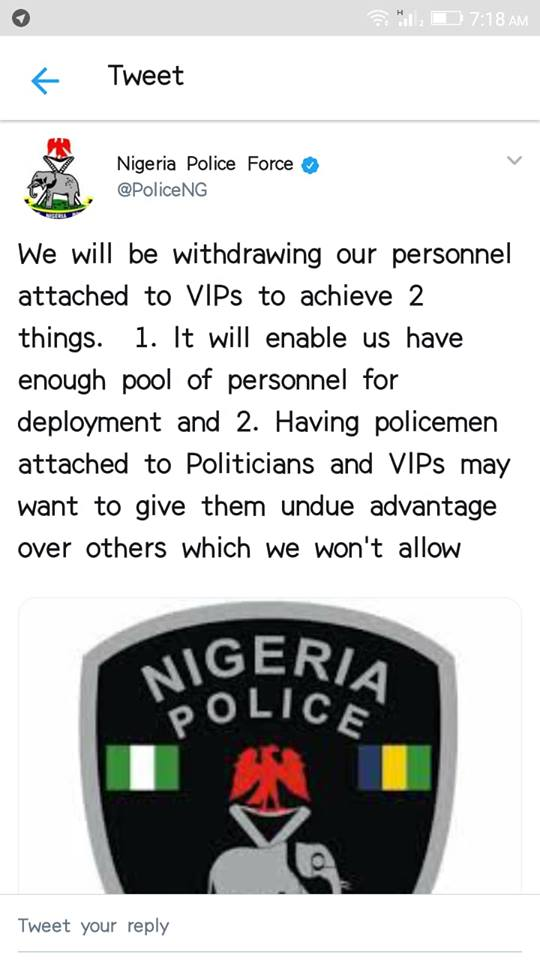 Police Withdraw Personnel From Vips Ahead Of Elections