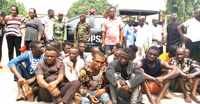 Police Recover Stolen PVCs, Parade 63 Suspects In Akwa Ibom (Photos)