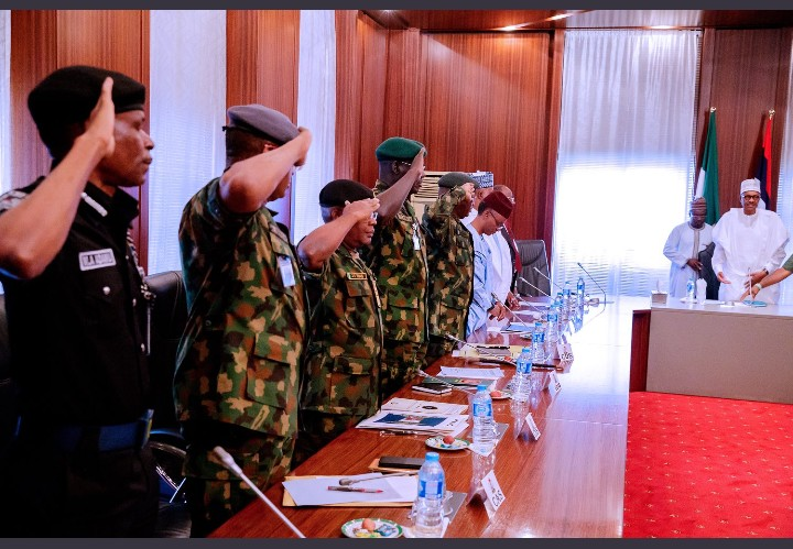 President Buhari Meets Security Chiefs Ahead Of Saturday's Polls
