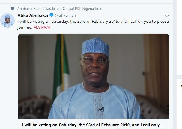 Come Out And Vote On Saturday, Atiku Urges Nigerians