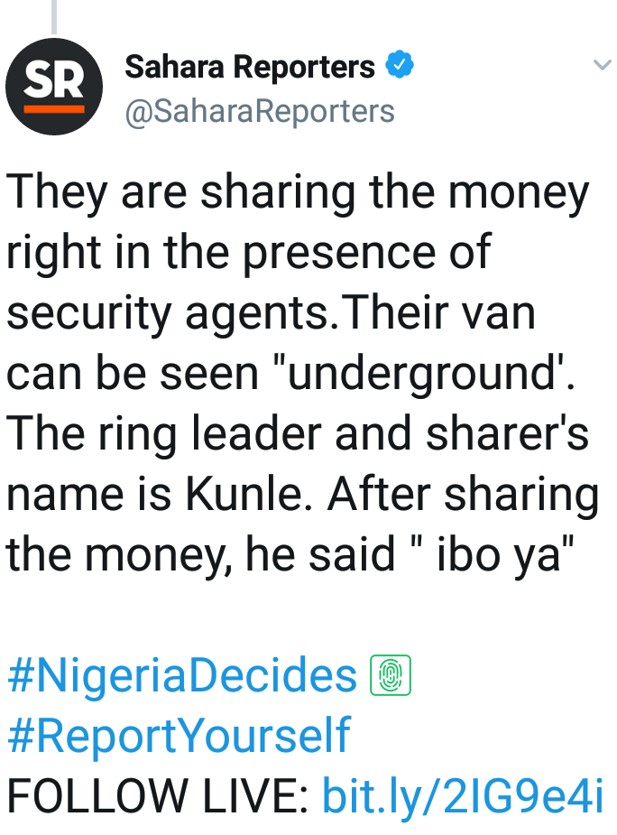 Thugs Sharing Money In The Presence Of Security Men.(photos)