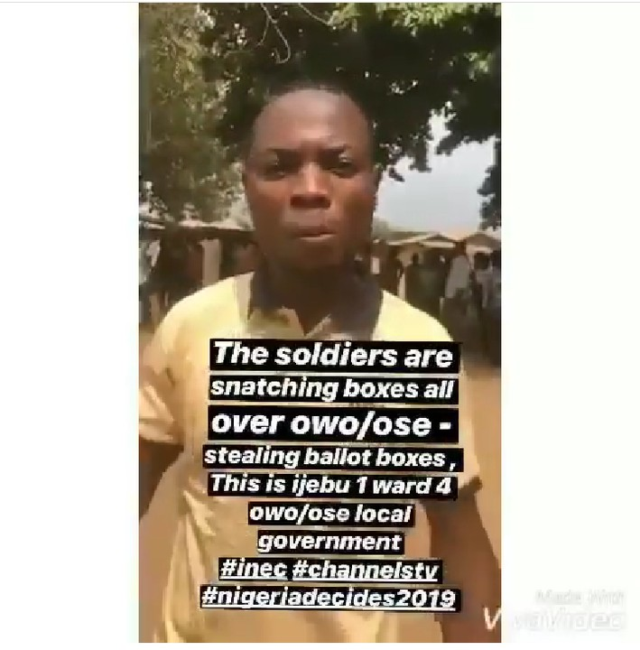 Soldiers Accused Of Snatching Ballot Boxes And Replacing With Printed Papers (video)