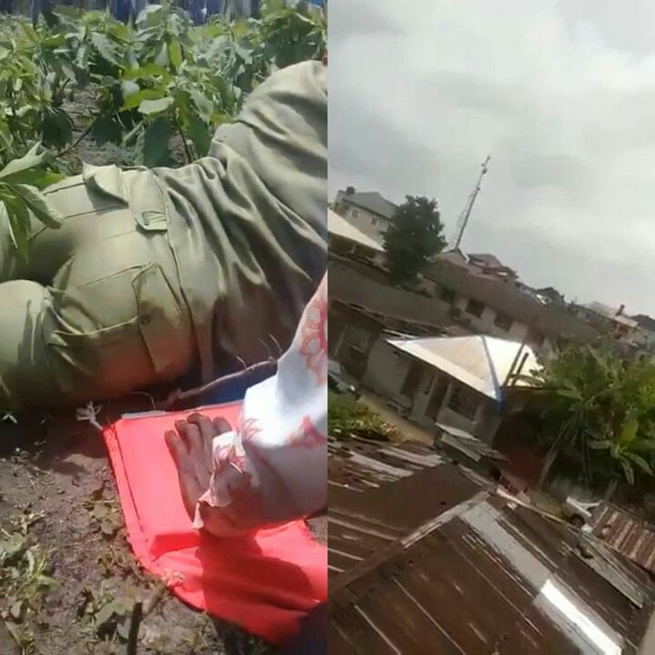 Corpers Goes Into Hiding, Crying As Gunmen Storm Their Polling Unit(video)