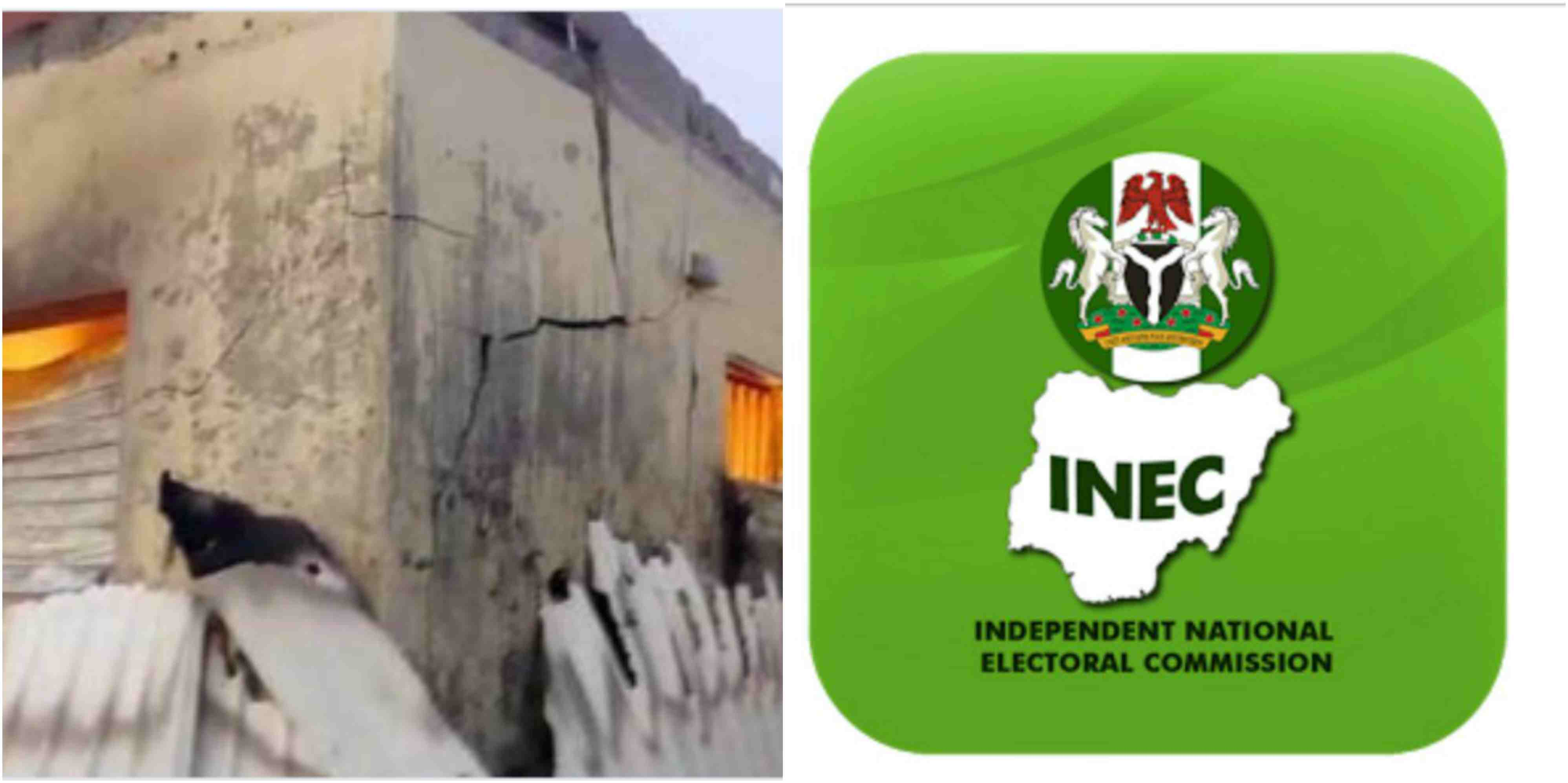 Image result for picture of Inec Office Burntdown in Imo